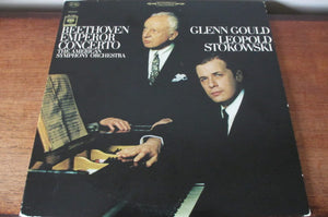 Beethoven, Glenn Gould, Leopold Stokowski, The American Symphony Orchestra ‎/ Emperor Concerto - LP (used)