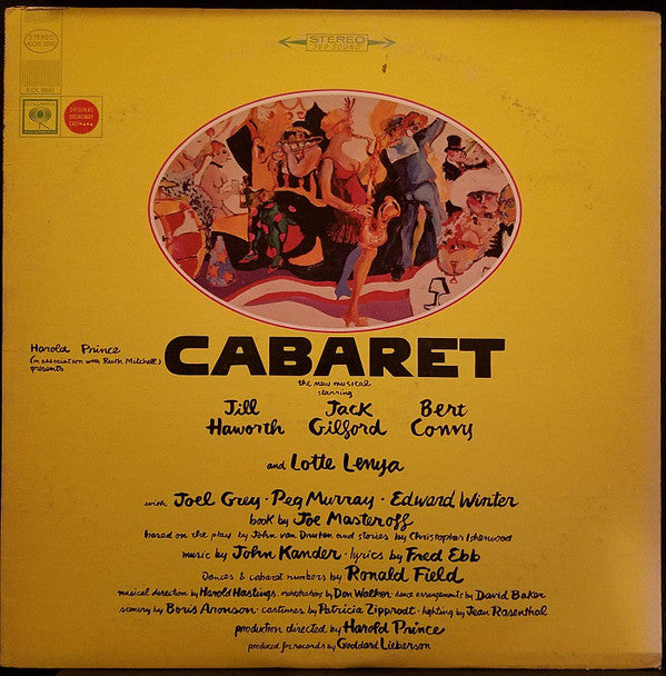 Harold Prince (In Association With) Ruth Mitchell ‎/ Cabaret (Original Broadway Cast) - LP (used)