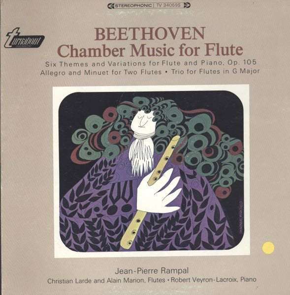 Beethoven* - Jean-Pierre Rampal ‎/ Chamber Music For Flute - LP (used)