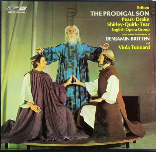 Benjamin Britten, Peter Pears, John Shirley-Quirk, Bryan Drake, Robert Tear ‎/ The Prodigal Son - LP (used)