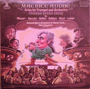 Maurice André With National Opera Orchestra Of Monte Carlo* Conducted By Marc Soustrot ‎/ Arias For Trumpet And Orchestra - LP Used