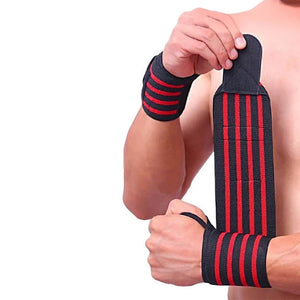 1PC Sports Gym Power Training Bracers Wrister Weightlifting Wrist Protector Pressure Cuff Wrist-band Wrap