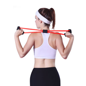 New Yoga Gym Fitness Resistance 8 Word Chest Expander Rubber Tubing Pull Rope Workout Muscle Elastic Bands for Sports Exercise