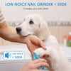 Painless & Non-Noise Dog Nail Grinder | Hisome