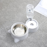 Pet Food Bowl with 500 ml Automatic Refill Water Dispenser