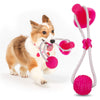 Silicone Chewing Ball with Suction Cup Pet Interactive Toys