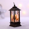 Santa Deer Snowman Candlelight Lantern Lamp for Christmas New Year Decoration