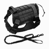 Military Tactical Dog Harness Leash