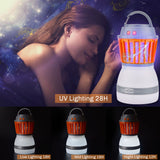 Hisome Camping Tent Lantern LED Lamp Anti Mosquito Portable 2 in 1 night Rechargeable LED Lamp Mosquito Zapper Zapper