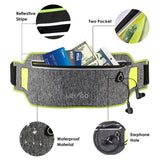 Running Belt Waistband Sweatproof Running Pouch Belt Reflective Waist Pack Belt for iPhone Xs/Max/XR/8/7puls/6