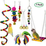 7 Pcs Combinated Bird Swings for Bird Lovers