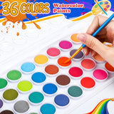 Hisome Solid pigment Set (36 colors+10 painting brush)