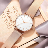 Montre Femme 2019 Mesh Belt ultra-thin Minimalist Women Watch relojes para mujer Rose Gold Sport Wrist Watches reloj mujer