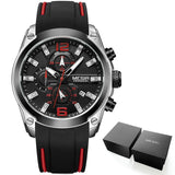 MEGIR Men's Sports Analogue Chronograph Luminous Quartz Wrist Watches