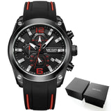 Men's Chronograph Analog Quartz Watch with Date and Luminous Hands, Waterproof Wristwatch for Man