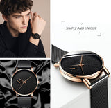 relogio masculino 2020 Fashion Black Minimalist Watches Men Business Stainless Steel Mesh Belt Ultra Thin Quartz Wrist Watch
