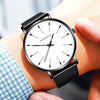 Men's Watch Luminous Quartz Wrist Watch Waterproof with Stainless Steel Strap