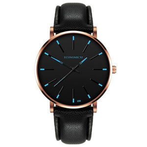 montre homme Fashion Men's Watch Simple Casual Leather Watch Men Wristwatch Male Watch Quartz Watches reloj hombre Hours A30