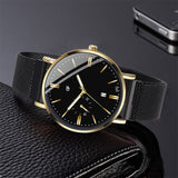 Men's Fashion Business Analog Quartz Watch with Simple Magnet Buckle Mesh