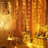 2M 5M 10M Cherry Balls LED  Fairy String Lights Battery USB 220/110V Solar Operated Wedding Christmas Outdoor Garland Decoration