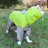 Pet Large Dog Raincoat Outdoor Waterproof Clothes Hooded Jumpsuit Cloak