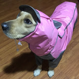 Pet Large Dog Raincoat Outdoor Waterproof Clothes Hooded Jumpsuit Cloak Golden Retriever Labrador