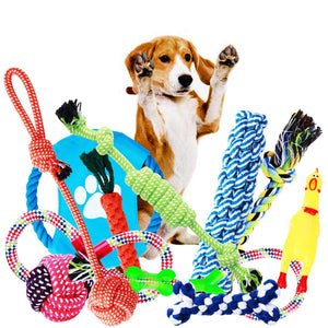 Dog Toys, Dog Chew Toys, Dog Training Toy Set With Ball Ropes And Squeaky Toys For Medium To Small Doggie, 12 Pack Of Gift Pet