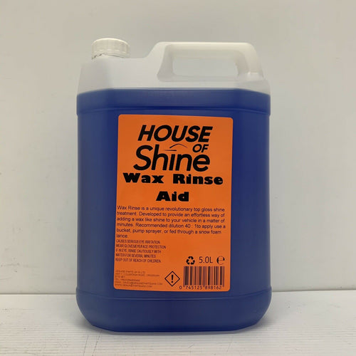 House Of Shine Wax Rinse Mirror Shine Car Valeting Rinse Aid Concentrated 5L