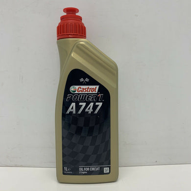 Castrol Power 1 A747 Castor/Synthetic 2-Stroke Performance Bike Engine Oil - 1L