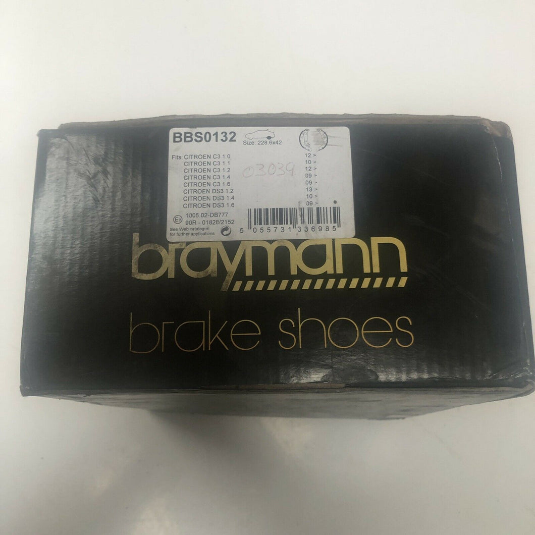 Genuine OE Quality Braymann Rear Brake Shoe Set - BBS0132