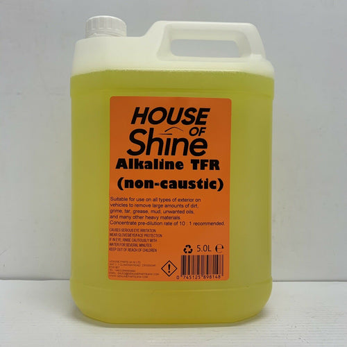 House Of Shine 5 Litres TFR Alkaline Traffic Film Remover Non Caustic