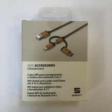 Load image into Gallery viewer, genuine Seat mfi charging and data cable 3 in 1 brand new accessories000051444a