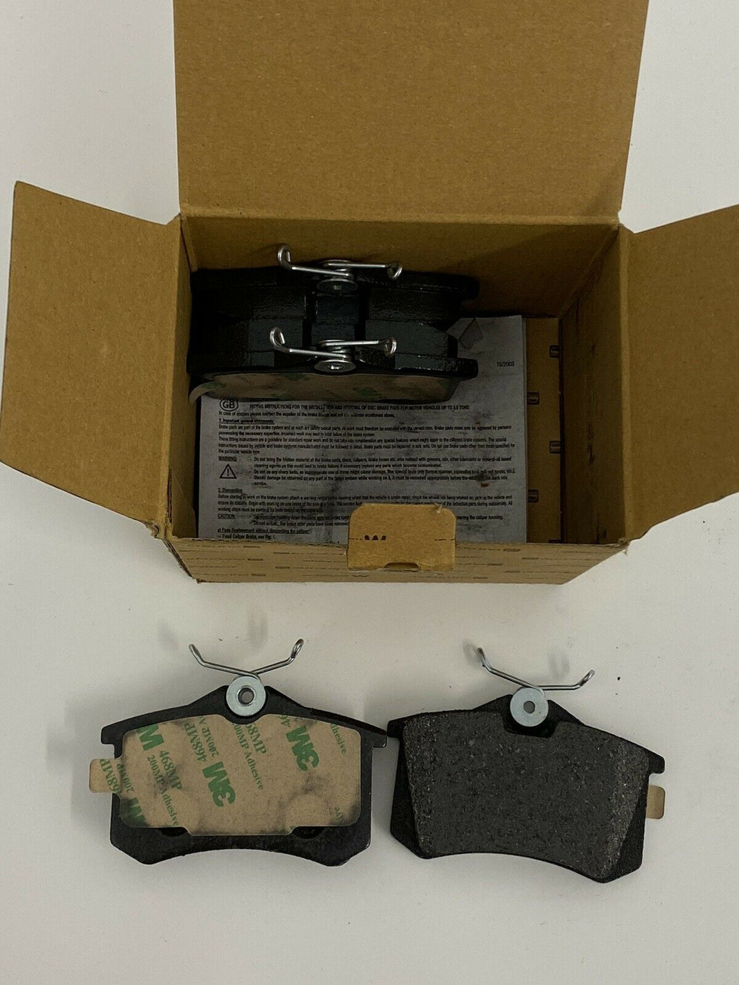 Genuine Eurorepar Citreon Brake Pad set 1609252880
