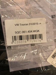 Genuine Volkswagen Touran 2015- Carpet Mat Set Brand New 5qc061404wgk