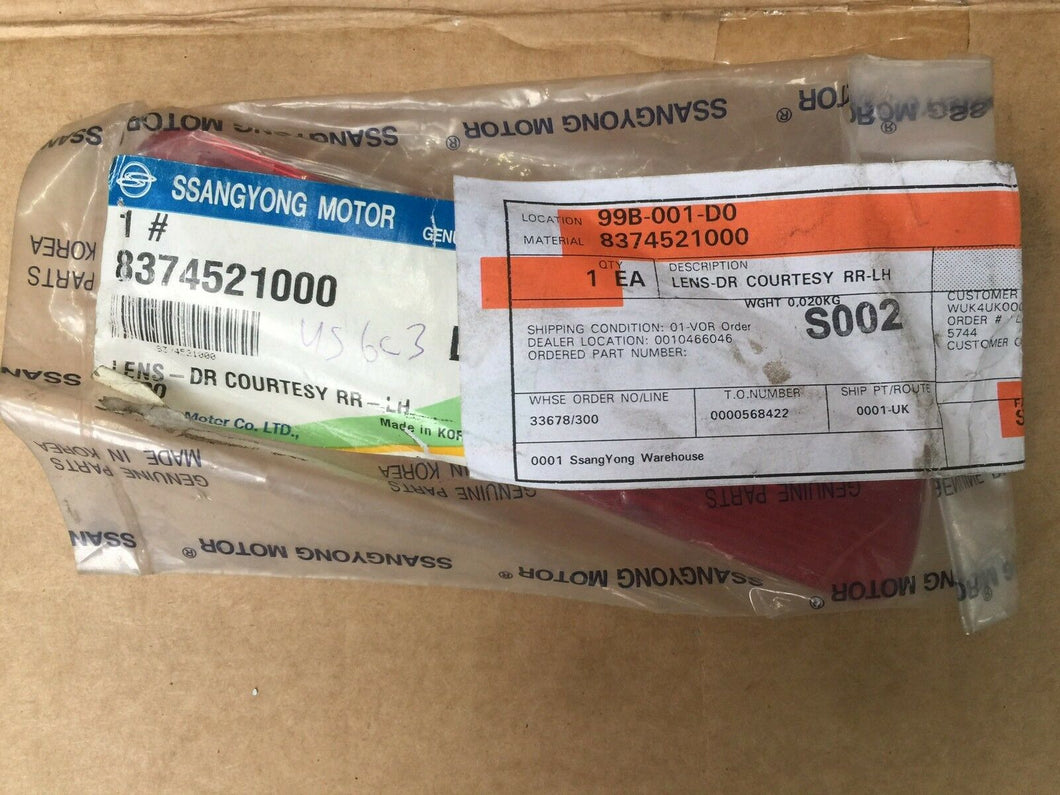 Genuine Ssangyong Kens Dr Courte Brand New 8374521000