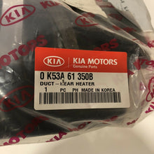 Load image into Gallery viewer, 0k53a61350b NEW GENUINE KIA Duct Rear Heater Brand New