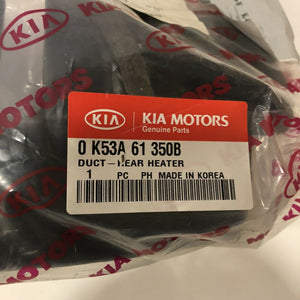0k53a61350b NEW GENUINE KIA Duct Rear Heater Brand New