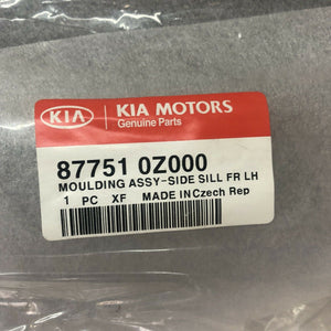 Genuine Kia Moulding Assembly Side Sill Front Left Hand 877510z000