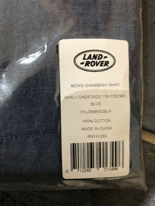 Genuine Land Rover Mens Heritage Chambray Shirt.  Brand New 51ldsm592blh