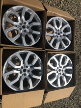 "Load image into Gallery viewer, Genuine Land Rover Range Rover Sport L405 Lr037747 22"" Alloy WheelsSilversparkle"