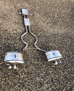 Genuine Land Rover resonator exhaust system with 2x Rear mufflers also comes with exhaust tips