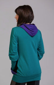 Hourglass Hoodie in Organic Cotton Sweatshirt Fleece - Eco Friendly - 3 Color Choices