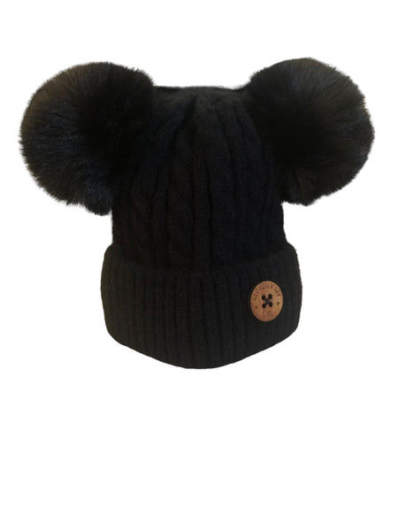 Kid Double Pom Hats