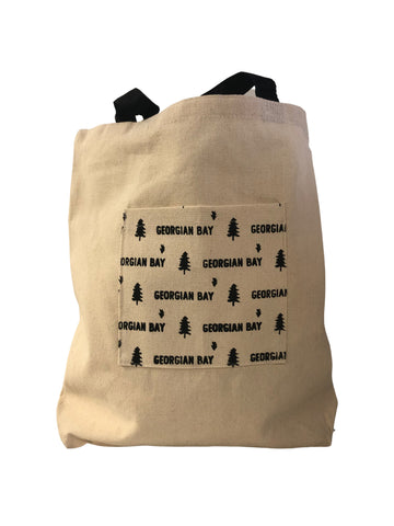 CANVAS POCKET TOTE BAG