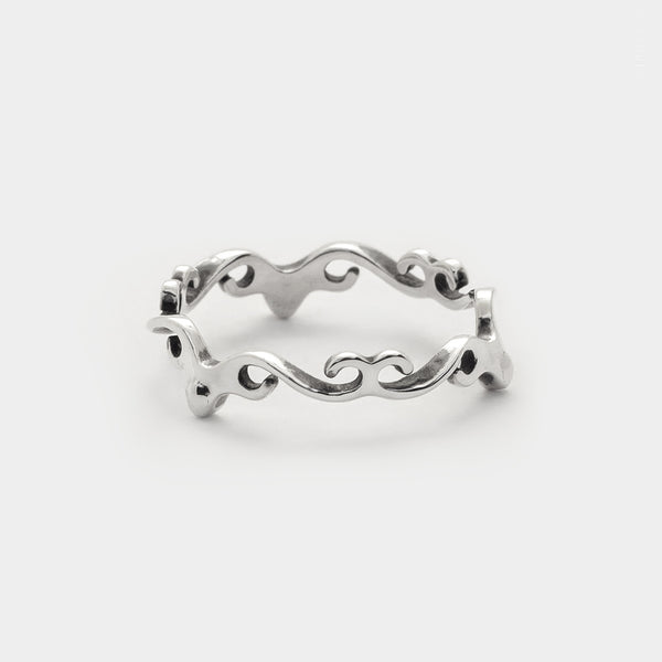 Infinite Love Swirl Stacking Ring sterling silver set of two dainty rings