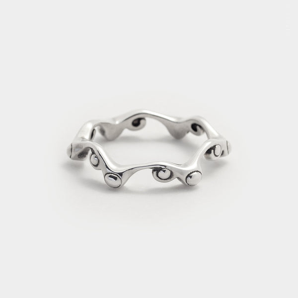 organic twig stacking ring dainty sterling silver every day ring