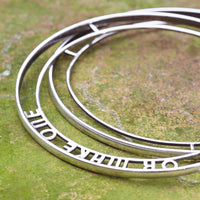 Custom Personalised Sterling Silver Bangle