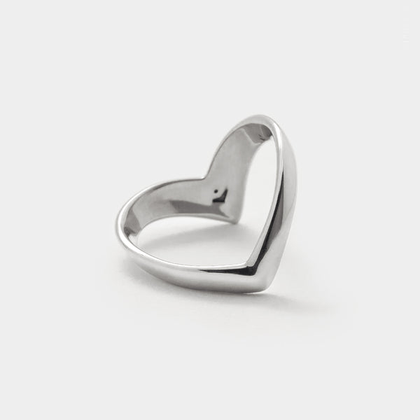 Sterling Silver Chevron Ring, V Shaped Band
