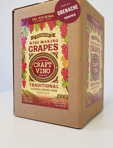 GRENACHE GRAPES Premium Wine Kit – Grenache – Makes wine in 4 -5 weeks - CraftVino