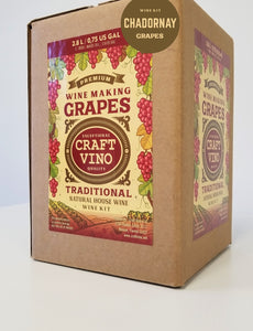 CHADORNAY GRAPES Premium Wine Kit – Chadornay – Makes wine in 4 -5 weeks - CraftVino